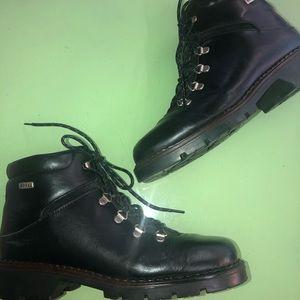 Vintage Sorel black leather hiking boots EUC US8